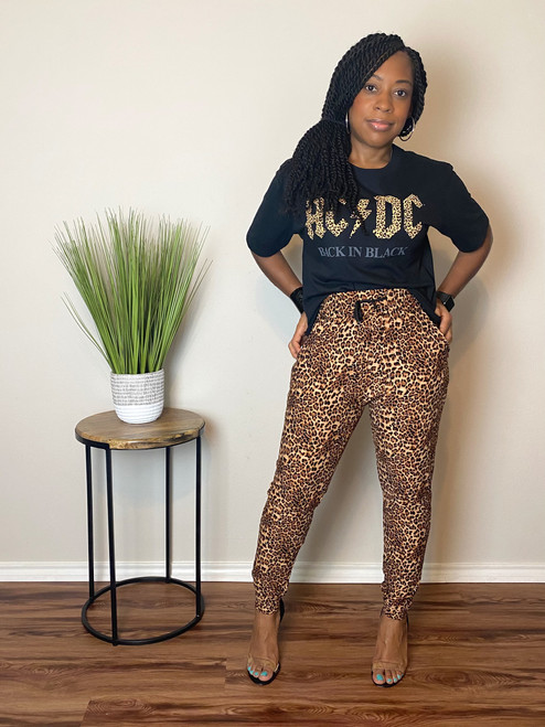 Hey You Leopard Print Joggers (RESTOCKED)