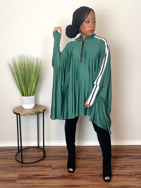 Demi Cape Dress-Green