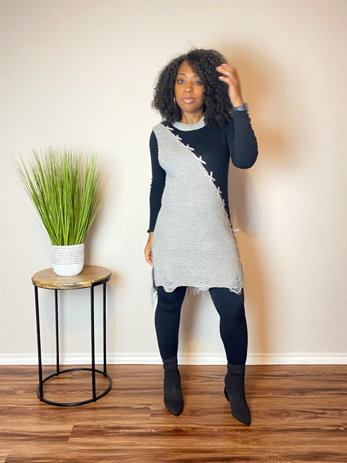 Tie It Sleeveless Tunic Sweater