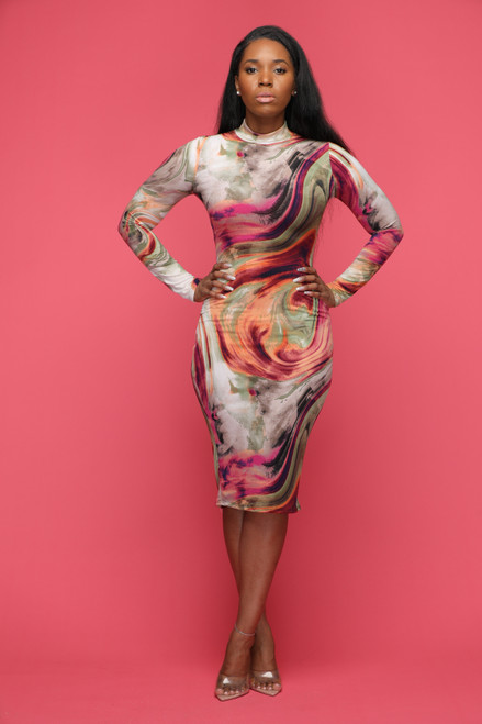 Oh My Swirl Dress-Purple