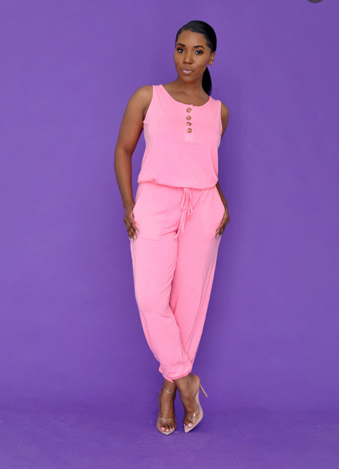 Alexa Jumpsuit-Pink