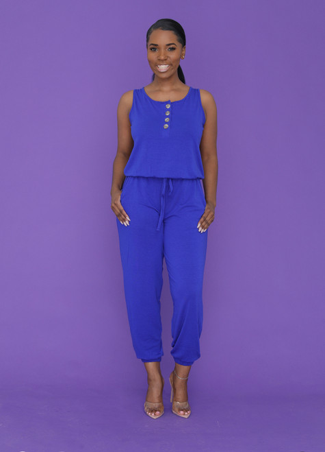 Alexa Jumpsuit-Blue