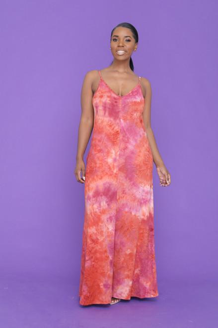 Taylor Maxi Dress-Orange