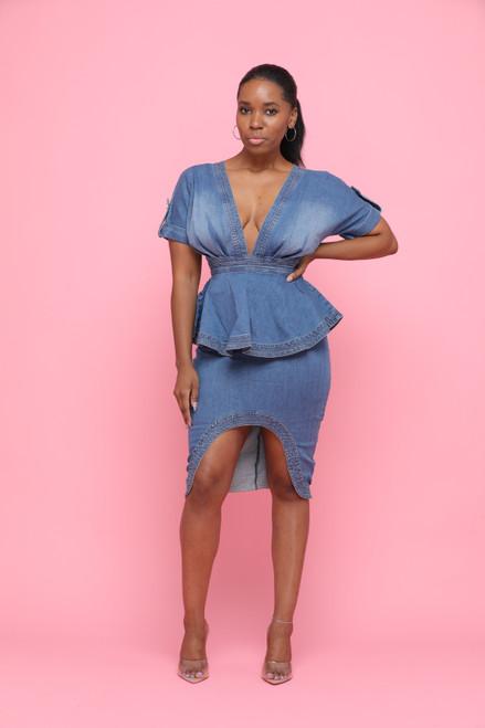 Fancy Denim Dress