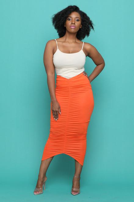 Gina Skirt-Orange