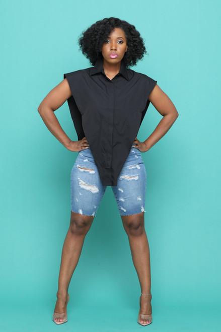 Dalia Side Out Top-Black