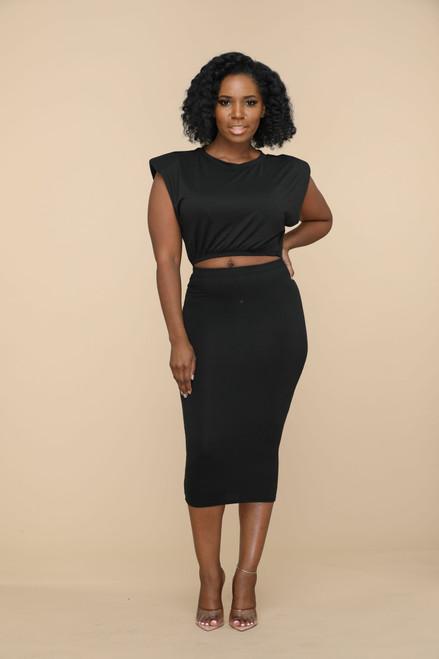 Twila Skirt Set-Black