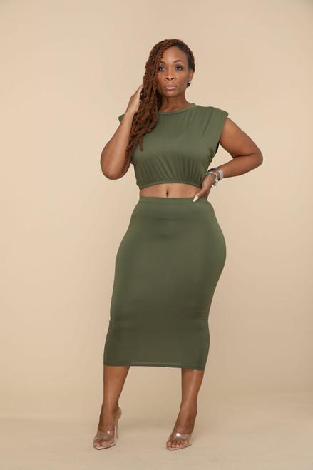 Twila Skirt Set-Green