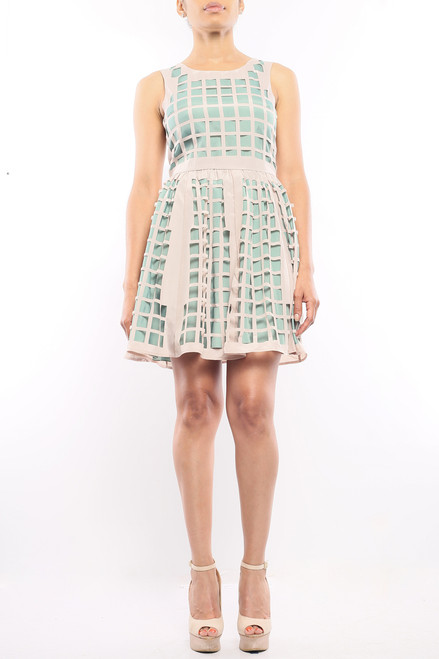 """""""Off The Grid"""" Dress Mint and Cream"""