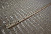 BEIGE  TAUPE SHEER GOLD STRIPE METALLIC POLYESTER SHEER FABRIC