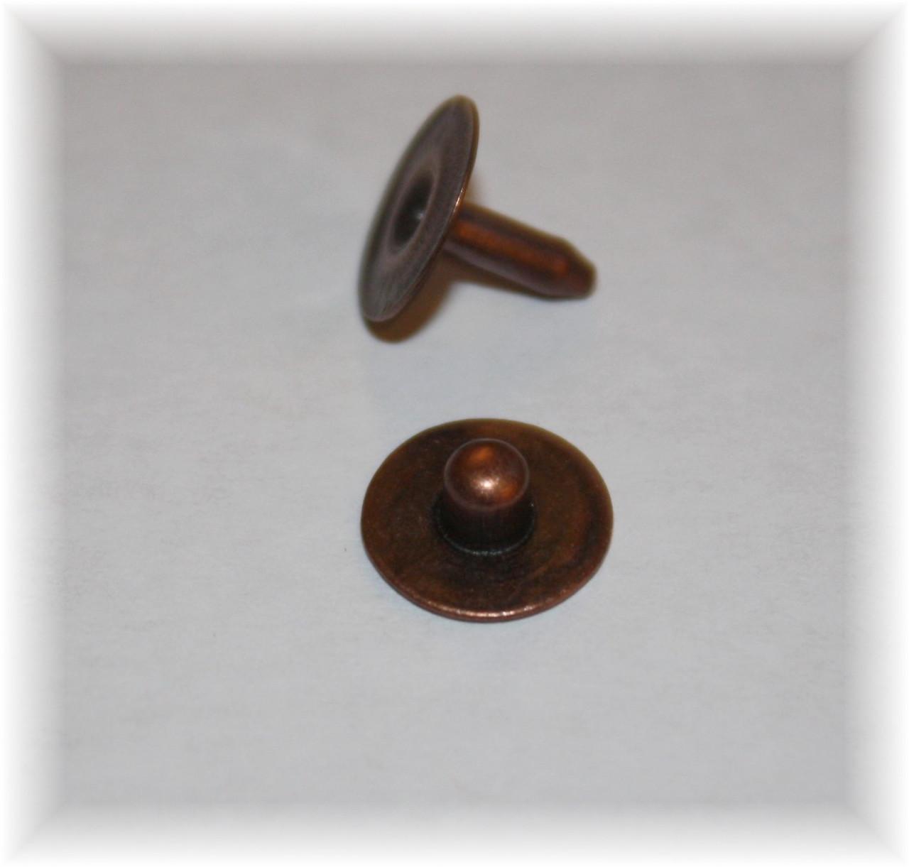 Copper Oxide Light Nipple Jean Rivet - Package of 12