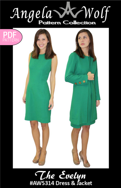 The Evelyn Dress and Jacket #AW5314 - DIGITAL PDF VERSION
