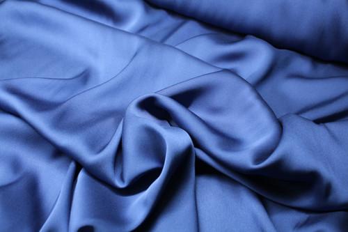 MIDNIGHT BLUE STRETCH  SILK CHARMEUSE