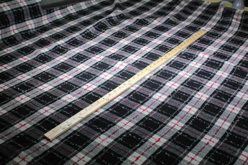 WOOL PLAID BLACK, GREY, PINK