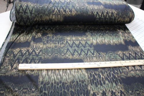 GREEN BLACK PRINT SWEATER KNIT