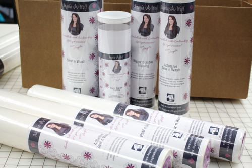 "Water Soluble Topping 12"" X 12 yard roll in Reusable Tube"