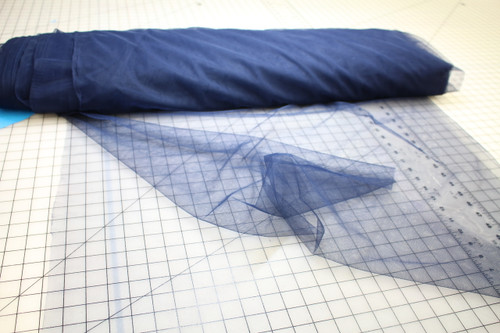 "108"" WIDE NAVY TULLE NYLON FABRIC"