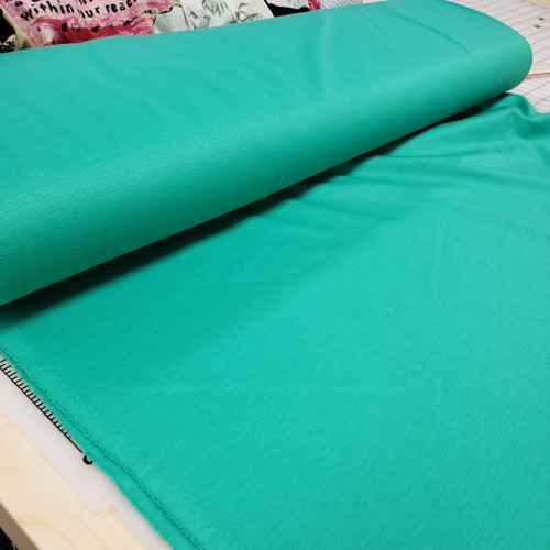 BLUE-GREEN LIGHTWEIGHT PONTE KNIT