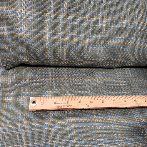 OLIVE GREEN & BLUE PLAID FABRIC - USED ON ITS SEW EASY LITTLE BLACK DRESS
