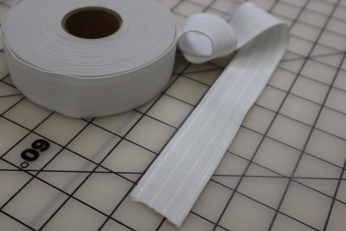 "1  1/4"" WHITE SPORT ELASTIC  (sold by the yard)"