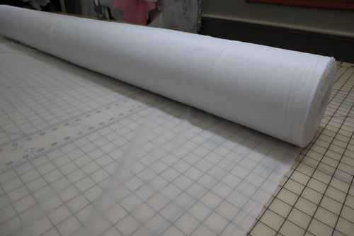 "60"" WIDE WHITE FRENCH FUSIBLE INTERFACING -  LIGHT WEIGHT TEXTURED WARP KNIT"