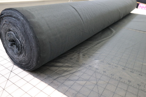 "60"" WIDE BLACK MEDIUM WEIGHT TAILORING FUSIBLE INTERFACING"