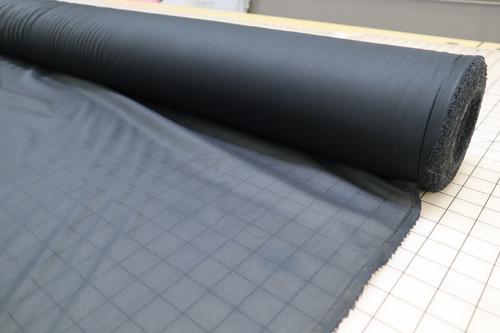 "60"" WIDE BLACK MID WEIGHT WOVEN  FUSIBLE INTERFACING"