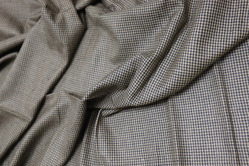 BROWN & BLACK HOUNDSTOOTH FABRIC