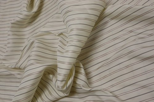 100% SILK PINSTRIPE LINING OR BLOUSE