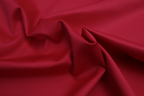 RED STRETCH SATEEN TWILL COTTON POLY SPANDEX FABRIC