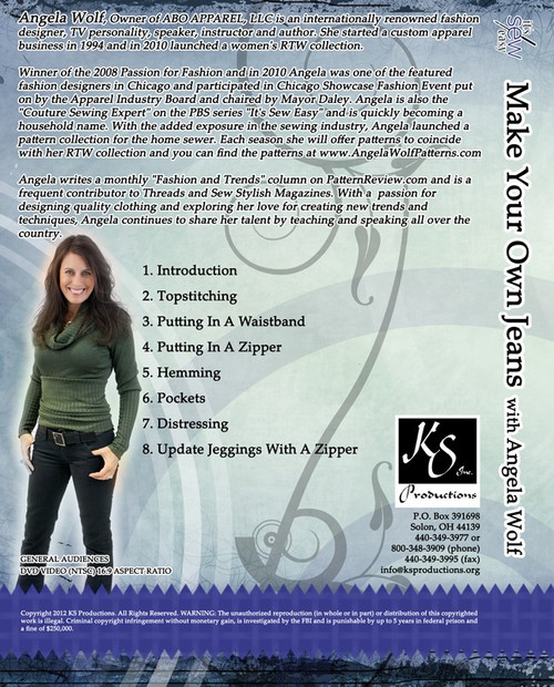 Make Your Own Jeans DVD | Angela Wolf Pattern Collection