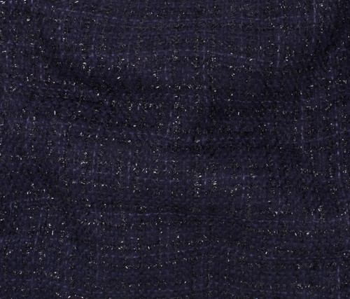 NAVY POLYESTER TWEED - SOLD BY THE 1/2 YARD
