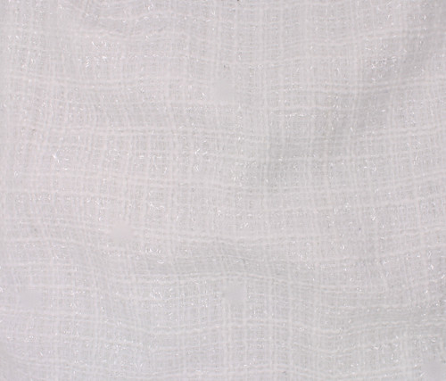 WHITE POLYESTER TWEED - SOLD BY THE 1/2 YARD