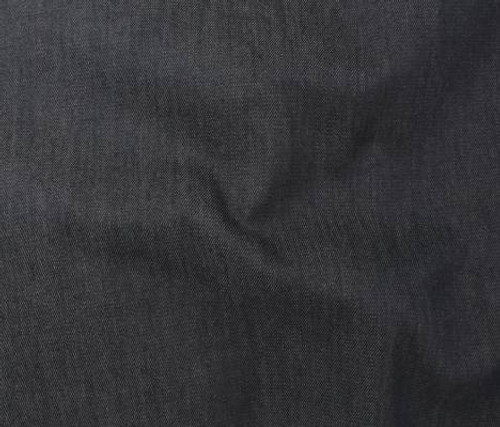 BLACK REPREVE DENIM FABRIC  68% COTTON, 30% RECYCLED POLY 2% LYCRA FABRIC ~ SOLD BY THE 1/2 YARD