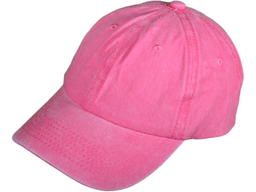 Pink Low Profile Unstructured Pigment Dyed Hat