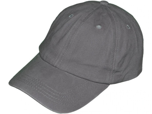Grey Low Profile Unstructured Pigment Dyed Hat