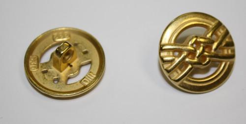 Gold Metal Button 20mm Shank