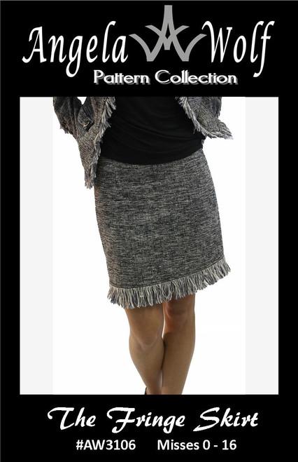 Fringe Skirt Paper Pattern #3106