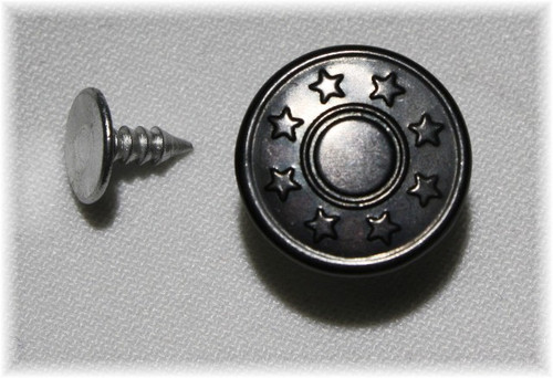 Black Star Jean Tack Button - Package of 4