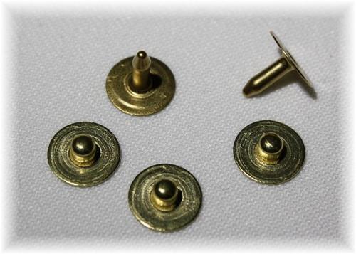 Brass Nipple Jean Rivet - Package of 12
