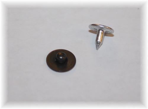 Normal Black Nipple Jean Rivet - Package of 12