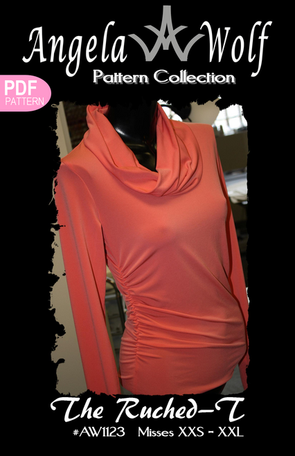 Ruched-T Knit Top   Angela Wolf Patterns