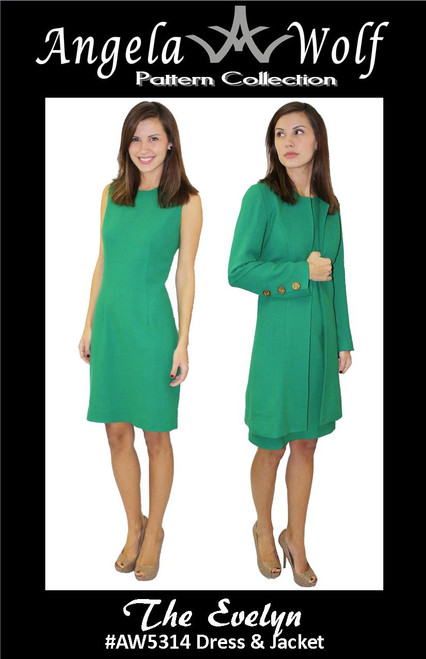 The Evelyn Dress and Jacket AW5314 - PAPER PATTERN