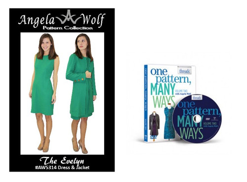 Combo package with the Evelyn sewing pattern and DVD