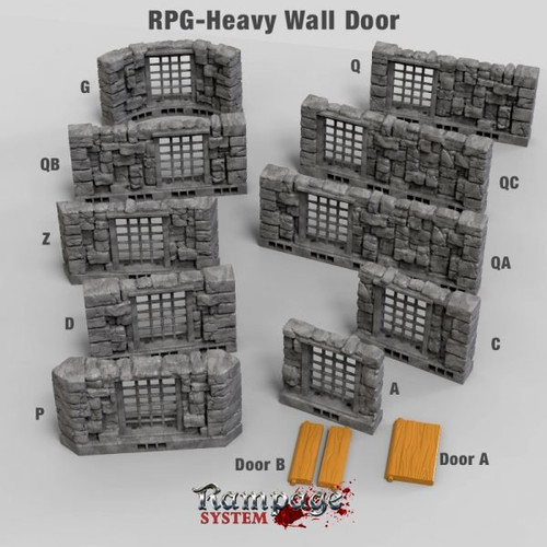 Heavy Wall With Door