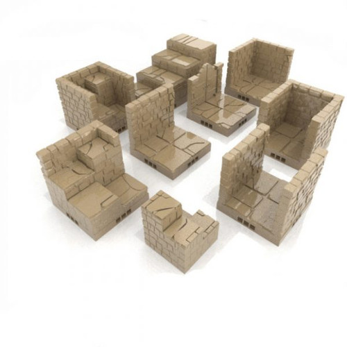 Square Brick Dungeon Tiles