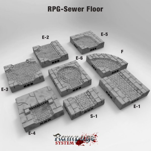 Sewer Floor Tile Starter kit