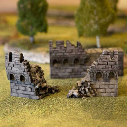 Octagon Castle Wall Ruin Pack