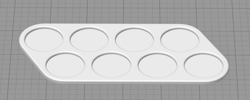 8 Unit X 25mm Base Movement Tray