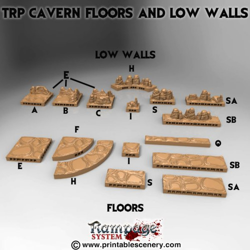 TRP-Cavern Floors and Low Walls